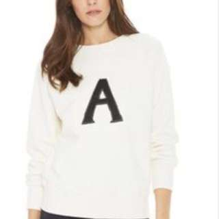 ALEXA CHUNG FOR AG cream jumper with A on front size small