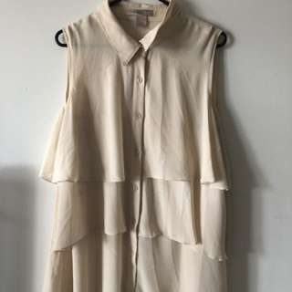 Button Up Blouse Size L