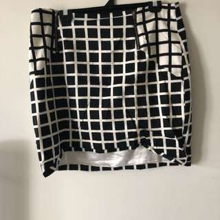 Portmans Checkered Skirt 14/16