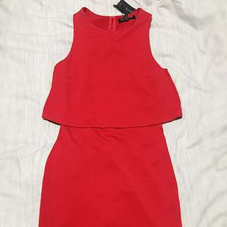 Red Bodycon Layer Dress