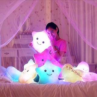 Brand New in plastic LED light Cute Star Glowing Soft Pillow Cushion Toy