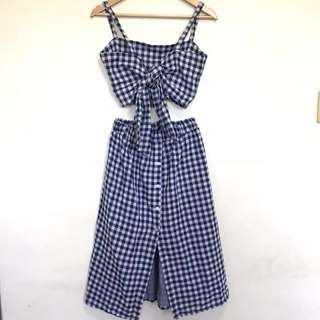 Gingham Terno