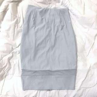 Grey Mesh Insert Skirt
