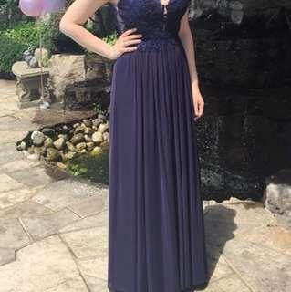 Navy Blue Sherri Hill Prom Dress *ONE OF A KIND*
