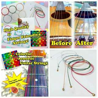 Colorfull Guitar Strings