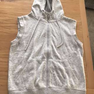 Cotton on body grey hoodie vest
