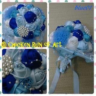 粉藍色花球