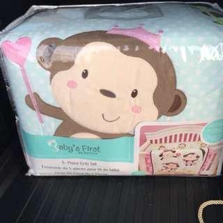 Baby's First 5 piece crib set  (brand new)