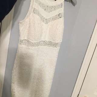 Le Chateau white lace dress