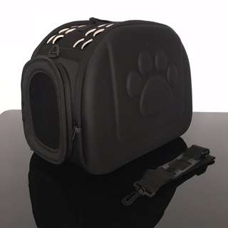 NEW (medium) Jet Black pet carrier dog kitten puppy cat cage carry