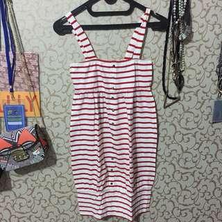 stripes red&white dress