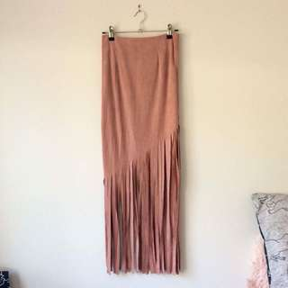 Faux suede dusty pink skirt size 6 NWT
