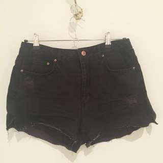 Black H&M Shorts #under20
