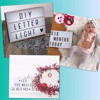 Letter Light Box with Free Colour Pack