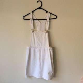 Size 6 white denim skirt overalls