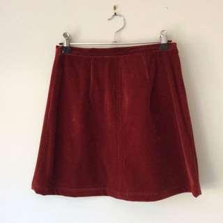 Minkpink velvet a-line skirt size xs
