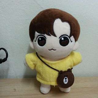 20cm Doll Outfit With Brown Pouch Bts Exo Wanna One