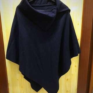 率性 硬挺 黑色斗篷 披風 #四百不著涼 #我的女裝可超取