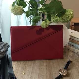 Campos marzio red envelope clutch