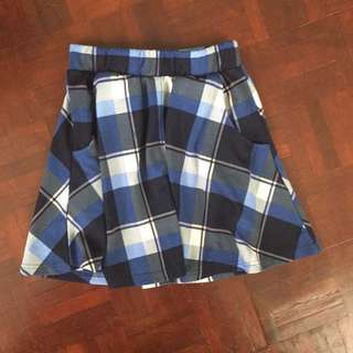 Cotton On Checkered Skater Skirt