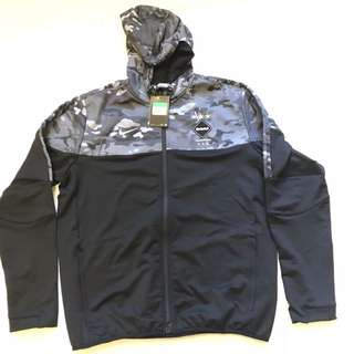 Men's Nike FC Real Bristol Black Grey Camo FZ Hoodie Sweatshirt 716124 011 Sz XL