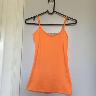 ❄️Tightrope Size 8 Orange Tank Top