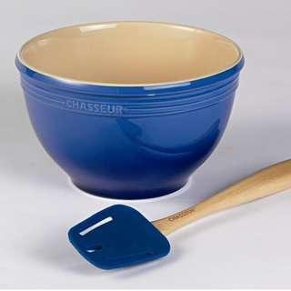 Chasseur La Cuisson Mixing Bowl Stoneware 29cm - 7L Blue