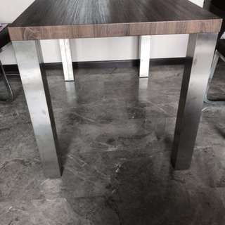 Dining Table with 2 half leather chairs