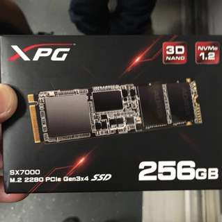 NVME 1.2 SSD 256 XPG Adata 5 years warranty