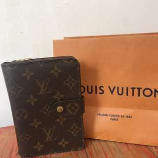 Authentic LV wallet with passport holder