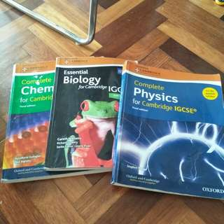IGCSE Cambridge—Physics, Biology,Chemistry