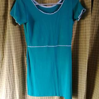 Blue Green short Dress