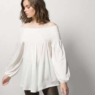 Massimo Dutti Off Shoulder Top - New!