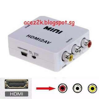 [BN] HDMI to AV Adapter / Converter (Brand New)