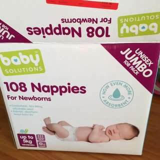 Baby solutions nappies