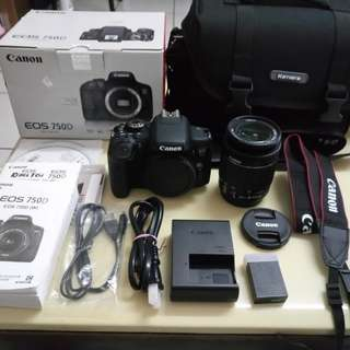 CAnon 750D+Wi-Fi+Touchscreen+18-55Mm+All