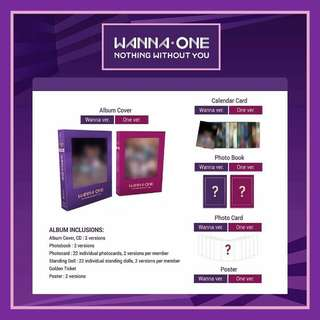 [SELLING FAST] WANNA ONE NOTHING WITHOUT YOU ALBUM