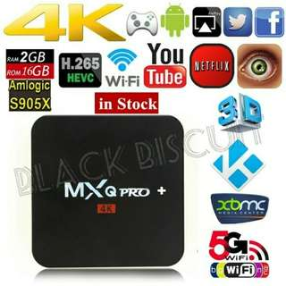 🚚 Lifetime No Subscription: Android TV Box MXQ PRO+ 2GB RAM 16GB ROM Dualband Wi-Fi Bluetooth 4.1 S905X Quad Core