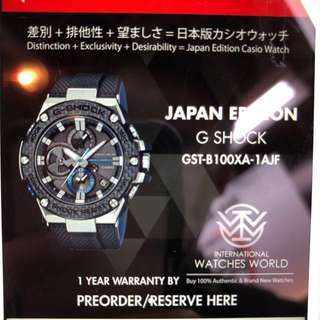 Japan Edition G Shock! (GST-B100XA-1AJF)