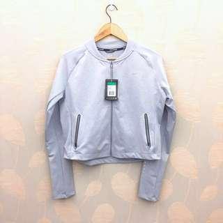 🚚 (全新正版含牌)Nike dri-fit 銀灰色棒球針織夾克外套XL #運動用品可超取