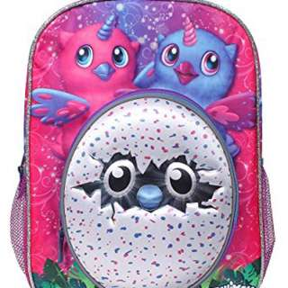 "Hatchimals ""Magic is Hatching"" 16 inch Backpack with Side Mesh Pockets"