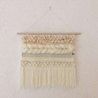 Woven wall Hanging - cream