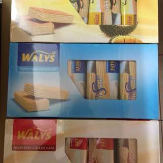 凱岳 榴槤口味威化餅 牛奶口味威化餅 香草口味威化餅 288g 盒裝