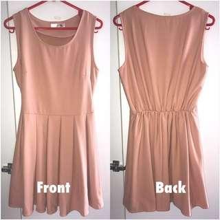 Preloved Plain Beige Short Dress