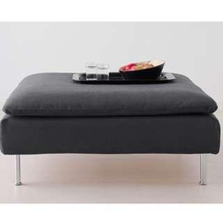 Footstool in samsta dark grey IKEA Coffee Table Living