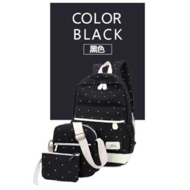 點點帆布後背包買1送2 #我有後背包要賣