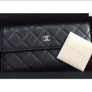 Chanel classic 羊皮銀包 wallet