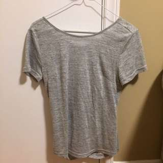 Grey Criss-Cross T-shirt
