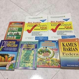 Malay peribahasa, karangan books and dictionary