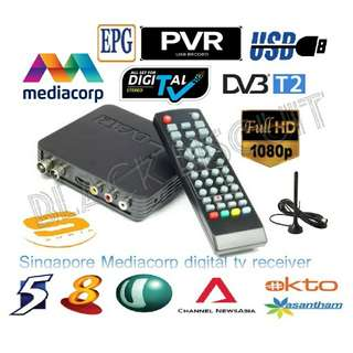 In Stock! DVB-T2 K2 MediaCorp Digital Receiver HD DVB T2 Set Top TV Box